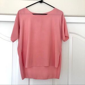 Peach oversize blouse